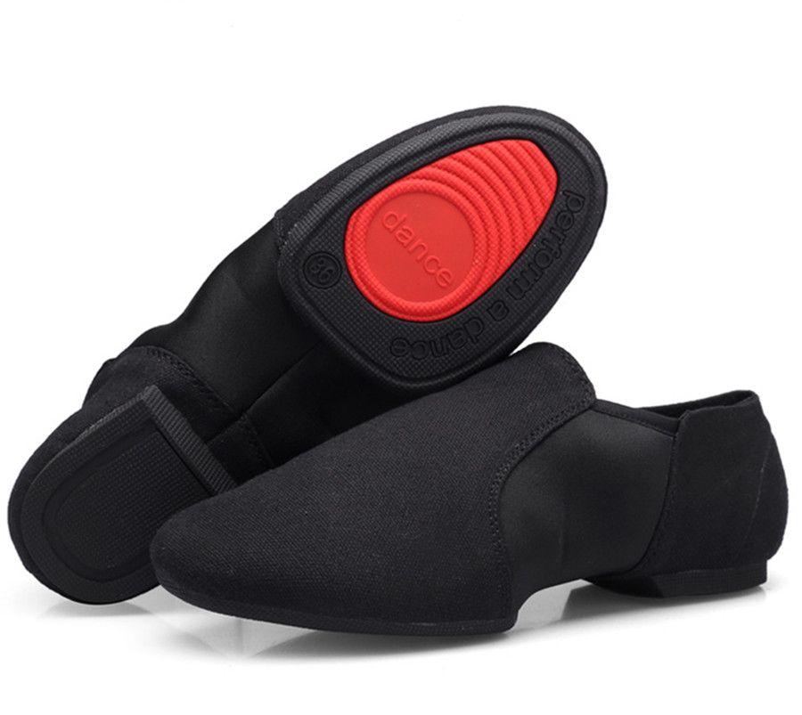Girls Sport Dance Shoes Canvas Soft Rubber And Suede Sole Slip-on Ballet Jazz Salsa Shoes For Women Stretch Jazz Dance Shoes Men
