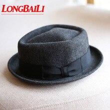 Winter High Quality Mens Wool Felt Fedora Hats Chapeu Masculino Panama Jazz Tril