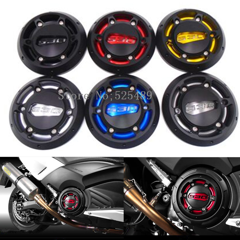 5 Colors CNC Motorcycle Engine Stator Cover Engine Protective Cover Protector Accessories For Yamaha T-Max 530 500 TMAX 530 500 shanghai kuaiqin kq 5 multifunctional shoes dryer w deodorization sterilization drying warmth