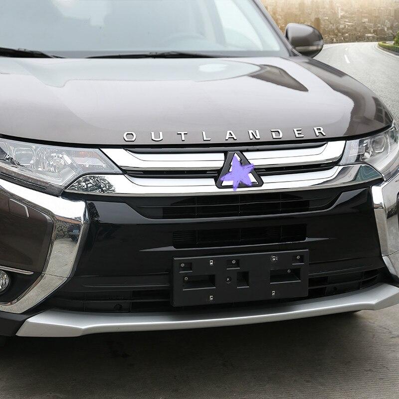 Estilo do carro capa emblema do carro adesivo letras estilo desportivo caso acessórios para mitsubishi outlander 3d letras capa emblema