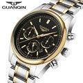 GUANQIN relógio dos homens Relógios Top Marca De Luxo 2016 Relógio de Quartzo Moda Casual Cinto de Couro À Prova D' Água Relógios Homens relogio masculino