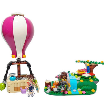 Bela 10546 girl Friends Heartlake Hot Air Balloons Building Blocks Bricks Educational Toys for Kids gifts Compatible With Toys фото