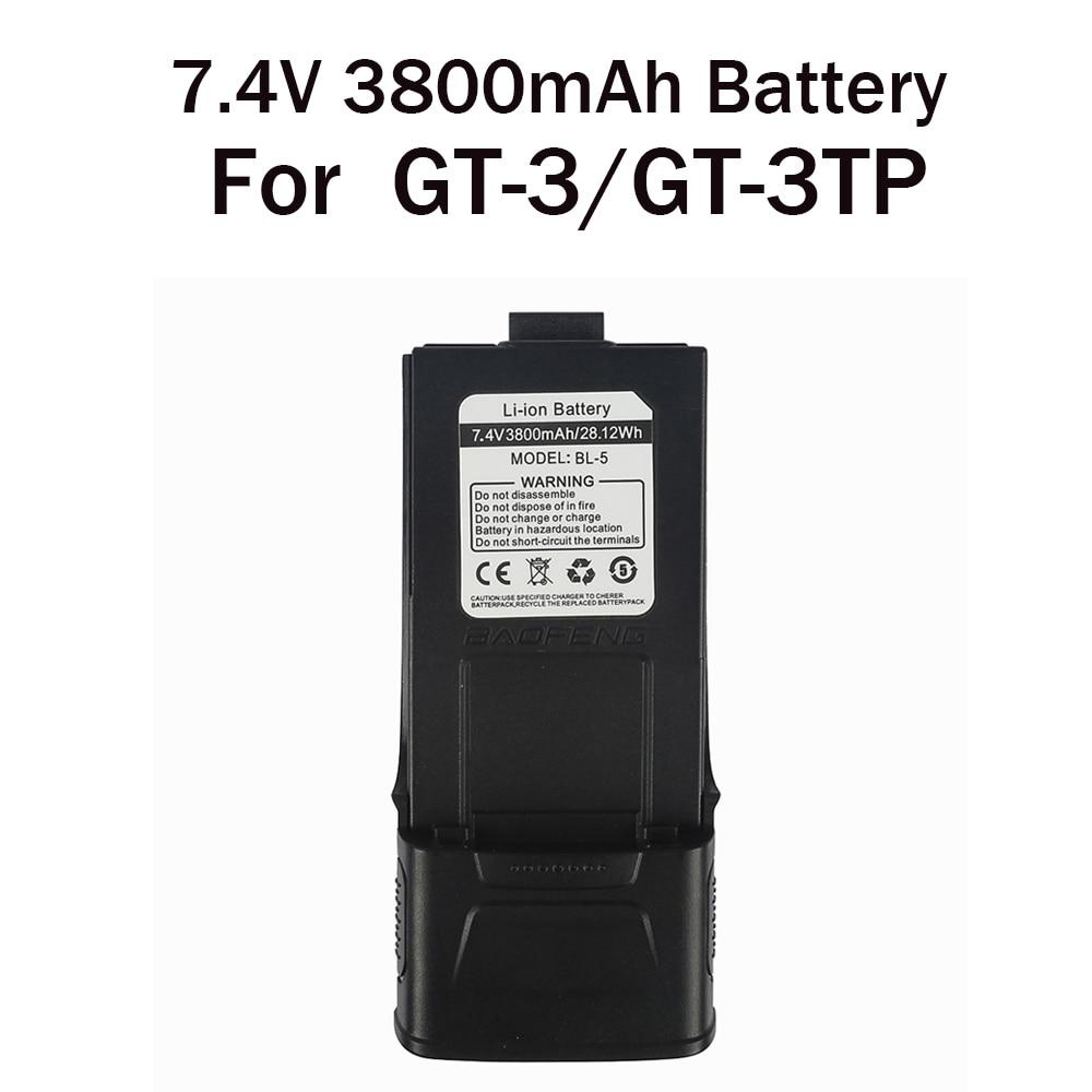 BaoFeng 7.4V 3800MAH Li-ion Battery For Baofeng GT-3 GT-3TP Two Way Radio Walkie Talkie Ham Transceiver
