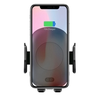 For Samsung S9 S8 plus S7 S6 Edge Fast Wireless Car Charger Automatic Induction Vent Phone Holder Cradle For iPhone 8 8 Plus X