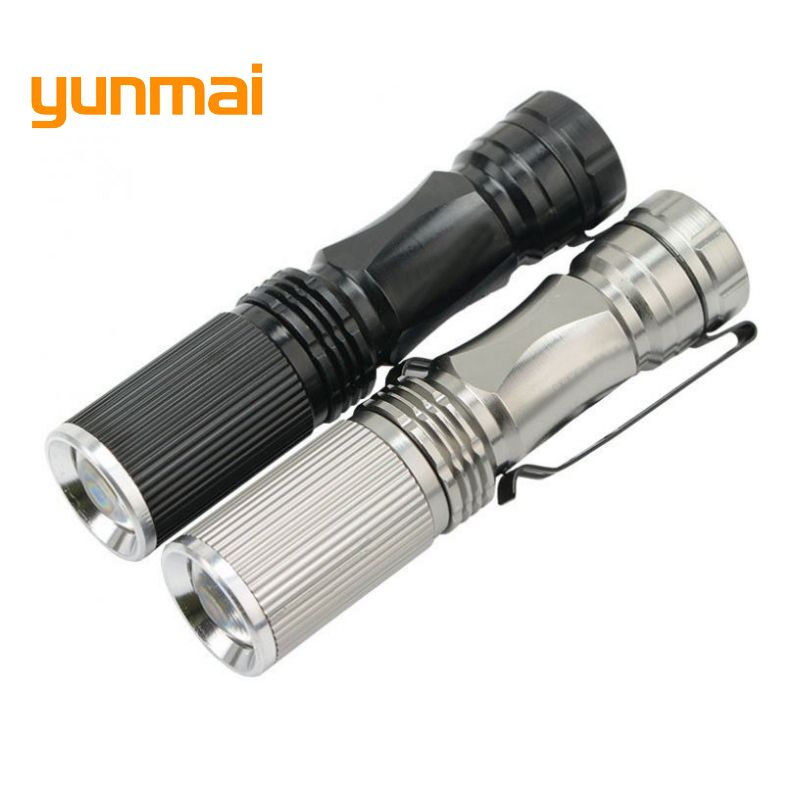 yunmai Mini torch 2000LM Waterproof LED Flashlight Torch 3 Modes zoom Adjustable Focus Lantern Portable Light use AA 14500 M29 mini penlight 3000lm waterproof led flashlight torch 3 modes zoomable adjustable lantern portable light use aa or 14500