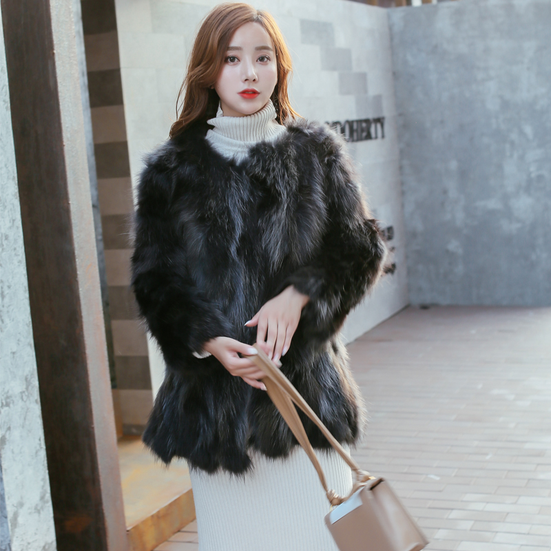Manteau de fourrure véritable femmes vêtements fourrure de raton laveur naturel Jaccket grande taille marque de luxe fourrure Parka gris pardessus prix réel hiver wsr624