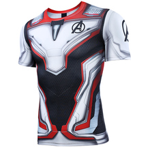 Avengers4  Endgame 2019 New Quantum combat clothes 3D Printed T shirts Gym Compression Shirt Cosplay Quick-drying