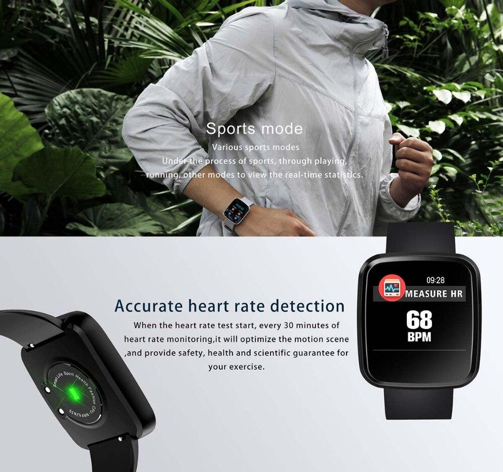 SunKinFon Smart Wristband W5 Fitness Tracker Heart Rate Blood Pressure  Monitor Bracelet Smart Band for Samsung Galaxy S9 Plus S9