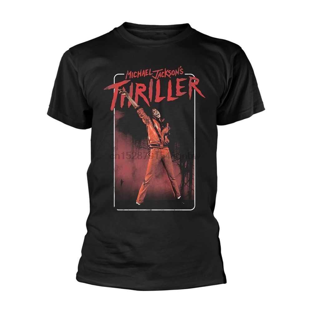 Michael Jackson Thriller Danza Posa Modo offiziell T-Shirt Herren Gli Uomini Tee Shirt Magliette e camicette Del Manicotto Del Bicchierino Del Cotone di Fitness T-Shirt