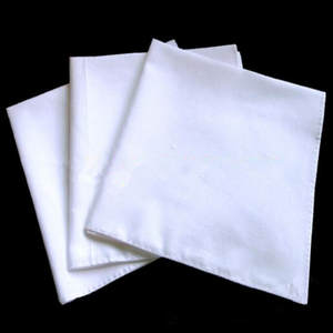 Handkerchiefs Pocket White Plain Men 50x50cm QLY9709 12pcs Sweat-Face-Towel Cotton New