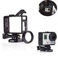 For Gopro Hero 3/3+/4 Standard Frame Black Color for Gopro Standard Frame(Camera+LCD BacPac/Battery BacPac) UV Lens Kit