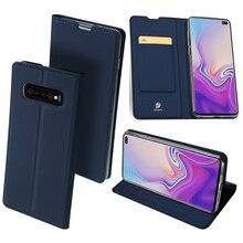 Original DUX DUCIS Leather Case For Samsung Galaxy S10/ Plus/ S10e Luxury Thin Flip Cover S10 5G Wallet
