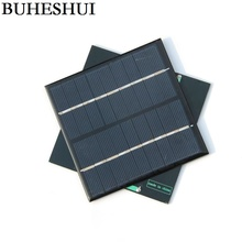 BUHESHUI Mini Solar Cell Solar Module DIY Solar Charger Polycrystalline Solar Panel 2W 9V 115 *115*2MM 5pcs/lot Free Shipping