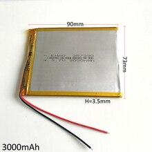 De Polímero Recarregável para Gps 3.7 V 3000 Mah de Lítio Li-po Bateria Psp Dvd E-book Tablet PC Móvel Telefone Banco Potência