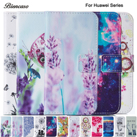 Fashion Butterfly Flower Wallet Flip PU   Leather     Case   For Huawei P9 Lite P8 Lite 2017 Honor 8 Cover Mobile Phone Bags B123