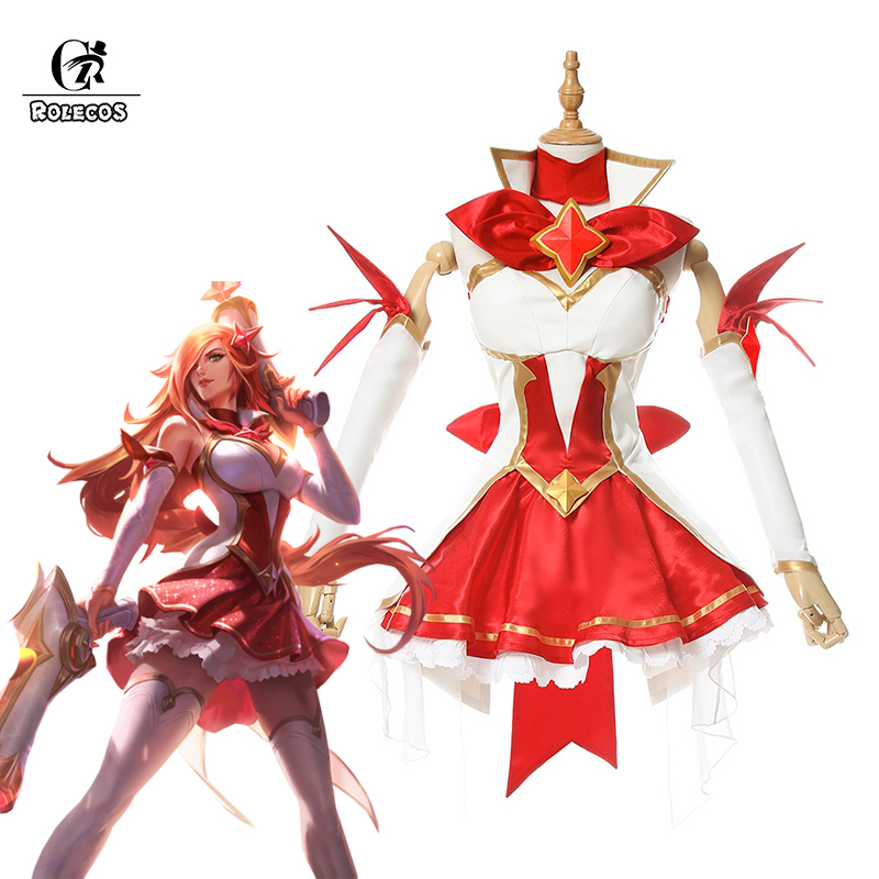 ROLECOS LOL Brand Cosplay Costumes The Bounty Hunter Miss Fortune Cosplay Star Guardian Costume Full Set