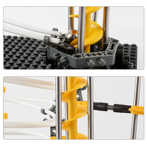 Image 5 - Nivel 1 2 3 4 DIY carril de espacio Montaña Rusa modelo de construcción Kits juguetes Spacerail montaña rusa de mármol recorrido de laberinto de bolas juguete para regalo