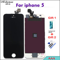 With Tempered Glass LCD Screen For IPhone5 5c 5s LCD Display Digitizer Assembly Replacement All AAA