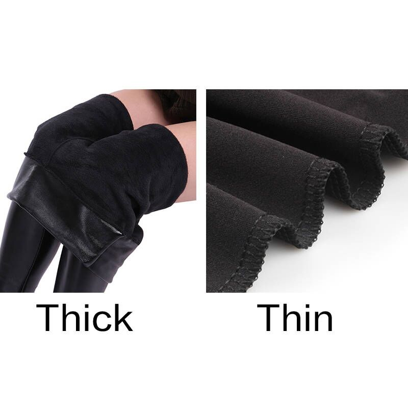 dc68570b41d CHRLEISURE S 5XL Winter Leather Pants Women Plus Size High Waist Pants  Skinny Stretch Warm Trousers Women Thick Velvet Pant-in Pants   Capris from  Women s ...