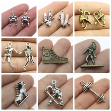 Mix Sports Charms For Jewelry Making Diy Craft Supplies Souvenir Athlete Pendants Gift