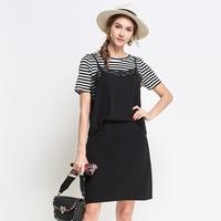 5XL Summer Patchwork Lace Chiffon Patchwork Dress Plus Size Women Party Beach Cute Fashion Striped Black Boho Dresses Summer