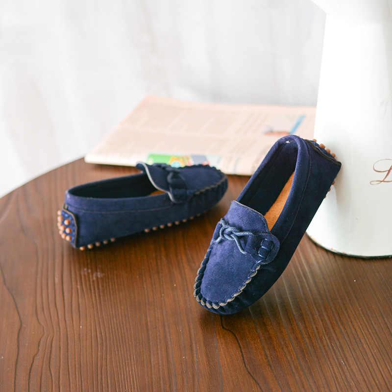 2019 primavera y otoño nuevos zapatos para niños y niñas zapatos de guisantes suaves moda de bebé cómodos zapatillas de deporte para niños mocasines