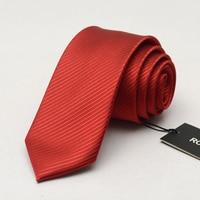 High Quality 6cm Ties for Men Silk Wedding Tie Men's Casual Necktie Skinny Brand Groom Neckties Red Striped Slim Ties Gift Box