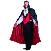 Black Vampire Man High Quality Stand Collar Dead Cosplay Party Wear Vampire Costumes Halloween Cloak Long