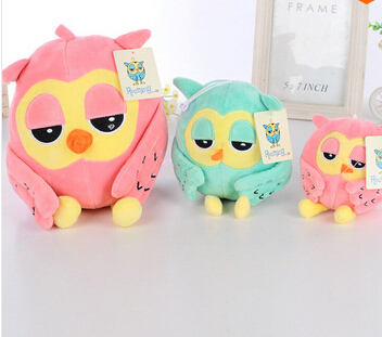 Hot 20cm Super Cute Owl Plush Toys Baby Toys 2 Colors Super Soft