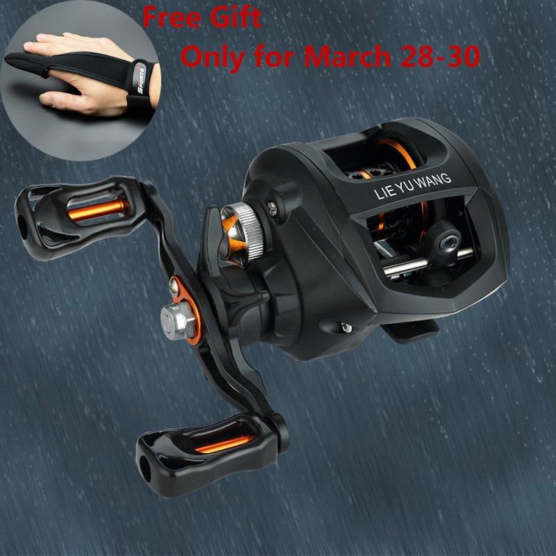 G-ratio 6.3:1 Fishing Reel 10 1 BB Left Or Right Bait casting Reel Super Light Meter Water Drop Wheel Spinning Fishing Reel