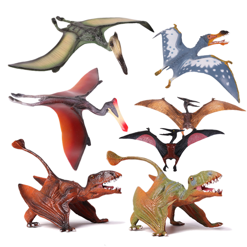 Action Toy Figures Jurassic 7 Styles Pterosauria Dragon Dinosaur PVC Toys Collection Model Plastic font b