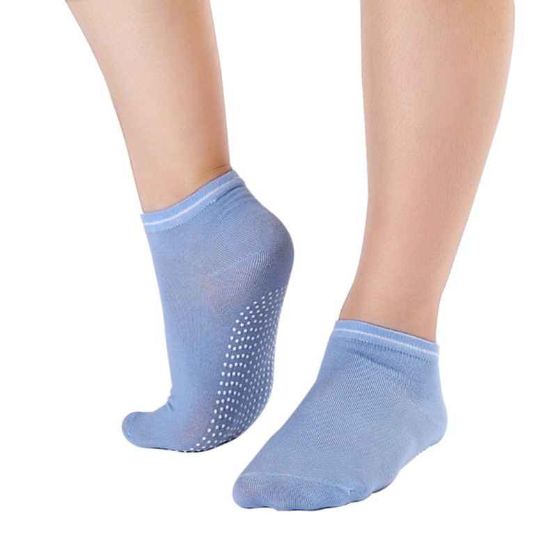 Women's Fitness Pilates Socks Colorful Non Slip Massage Toe Durable Dance Ankle Grip Exercise Printed Letter Socks