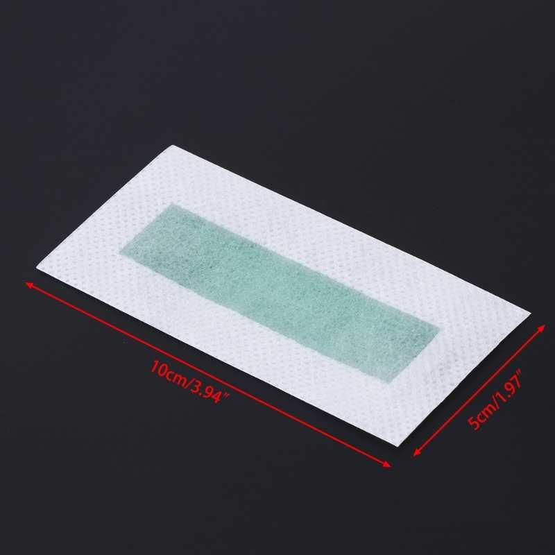 10 pcs Taşınabilir Ağrısız Epilasyon Tüy Dökücü Epilatör Soğuk Wax Şeritler Kağıt Pad Için Yüz Nonwoven