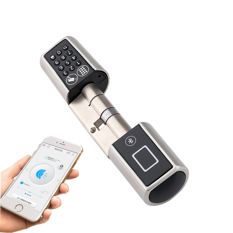 2019 L5PC+B Smart Home Code Door Lock Cylinder Bluetooth Electronic Door Lock Cylinder Unlock by Code Card & Bluetooth Mobile electronics