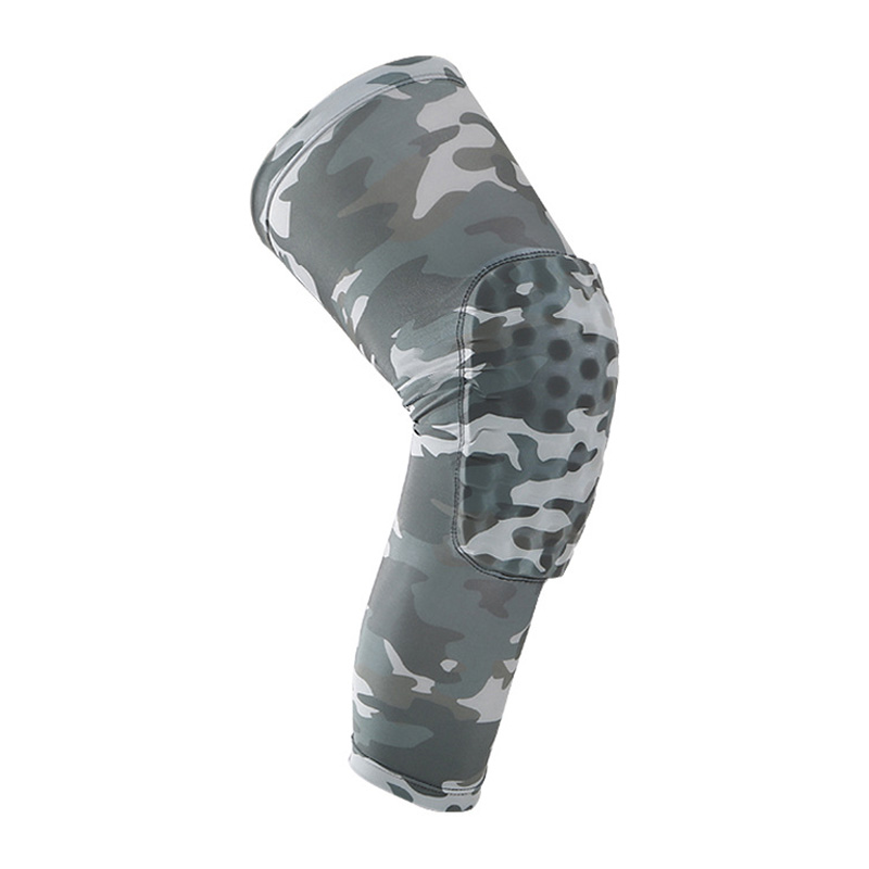 Outdoor Basketball Sports Anti Collision Skid Leg Knee Pads Camouflage Hive Protection E ...