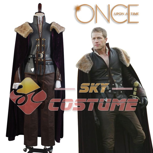 Vendita calda Once upon a Time Principe azzurro David Nolan in Foresta Incantata Costume Cosplay Mantello Pantaloni Halloween Full Set