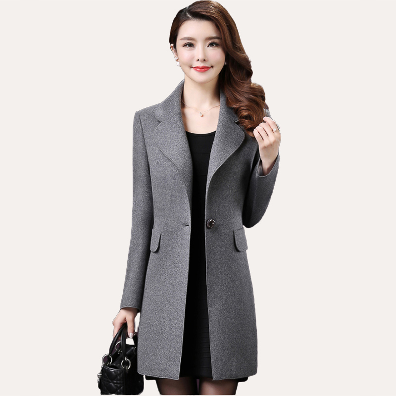VogorSean Winter Women Wool Coats Jackets 2018 New High Quality Fashion Casual Office Wools Alpaca Womans