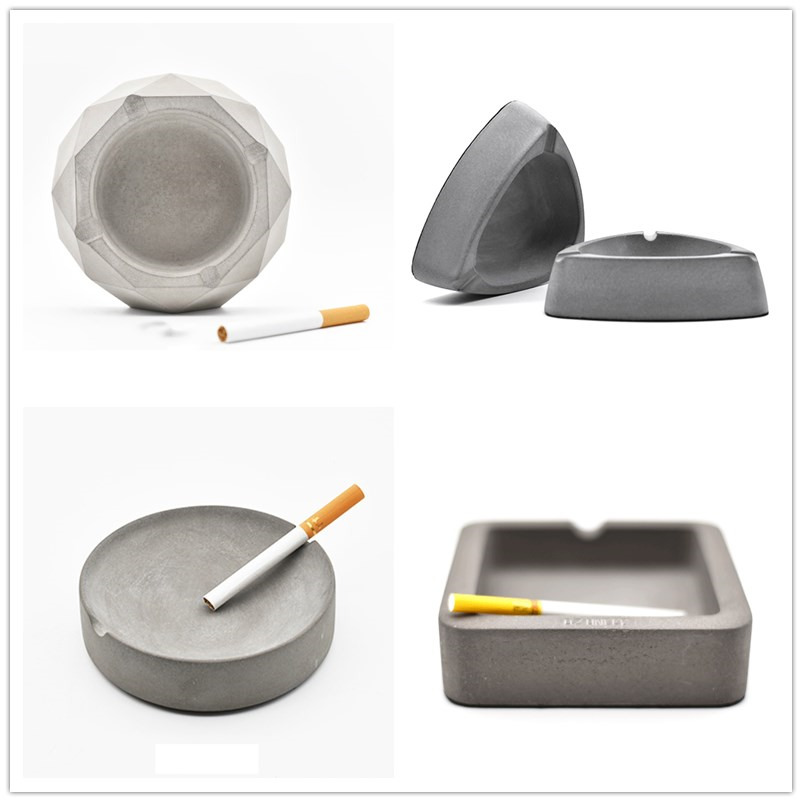 Contrete moulds tray moulds silicone cigarette holder for Concrete craft molds
