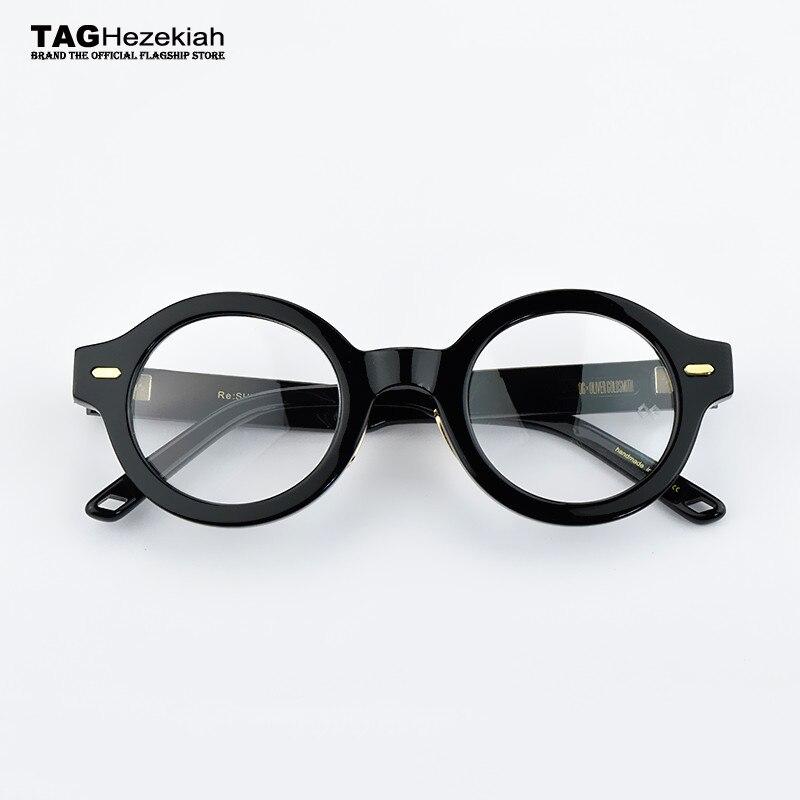 Retro occhiali di Marca telaio donne Occhiali rotondi Telaio uomini 2019 computer di miopia montature per occhiali Epoca Fatti A Mano del progettista nerd