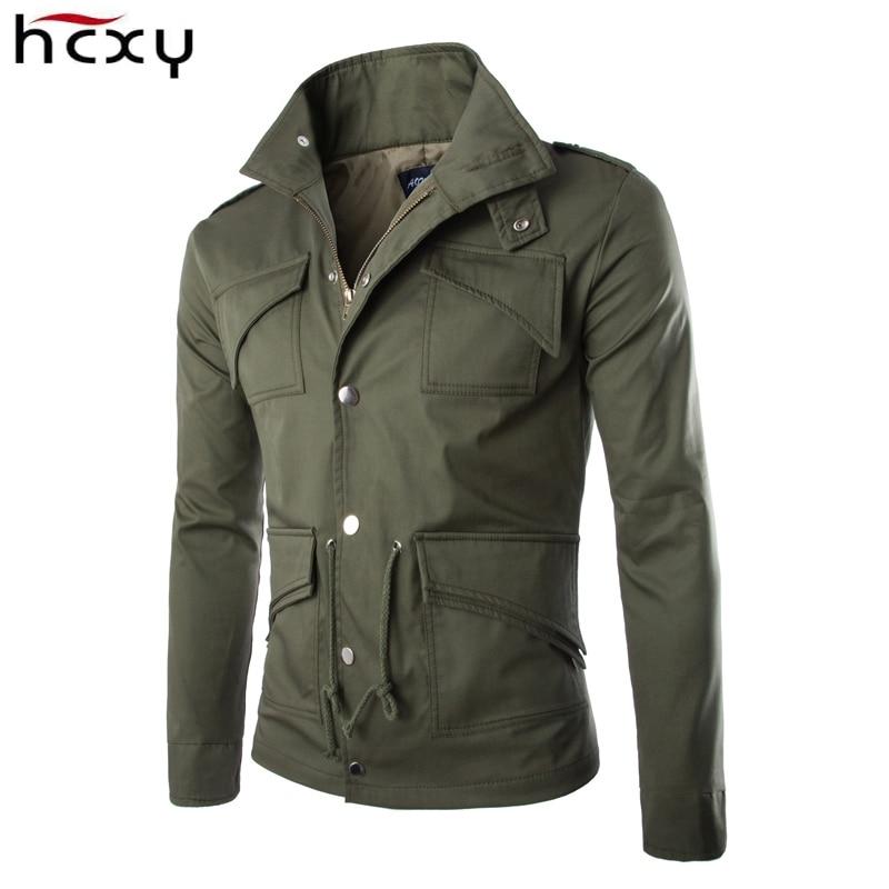 2016 high-quality cotton military jacket British trade temperament Slim large size stylish mens jackets army