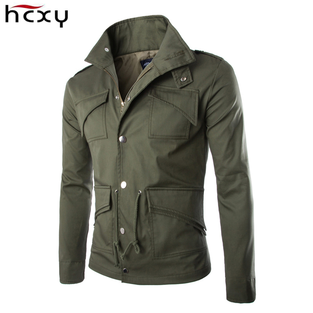 2016 high-quality 100% cotton military jacket British trade temperament Slim large size stylish mens jackets army