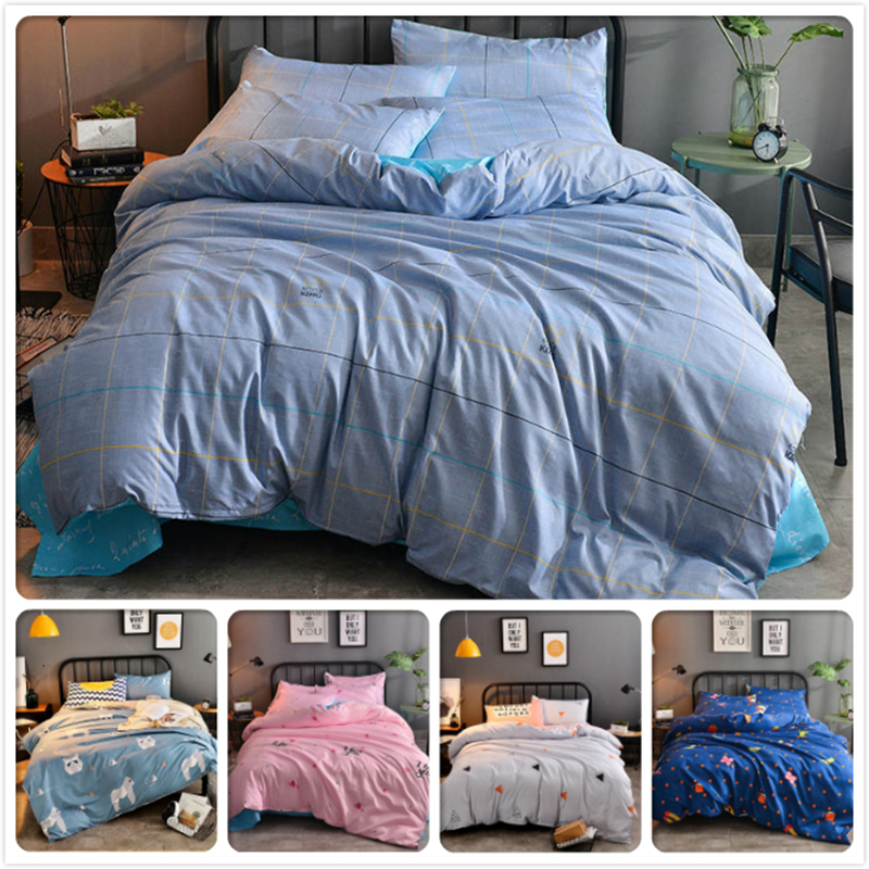 High Quality Soft Cotton 3/4 pcs Bedding Set Kids Child Bed Linen Single Twin Queen King Full Size Bedlinens Duvet Cover 180x220