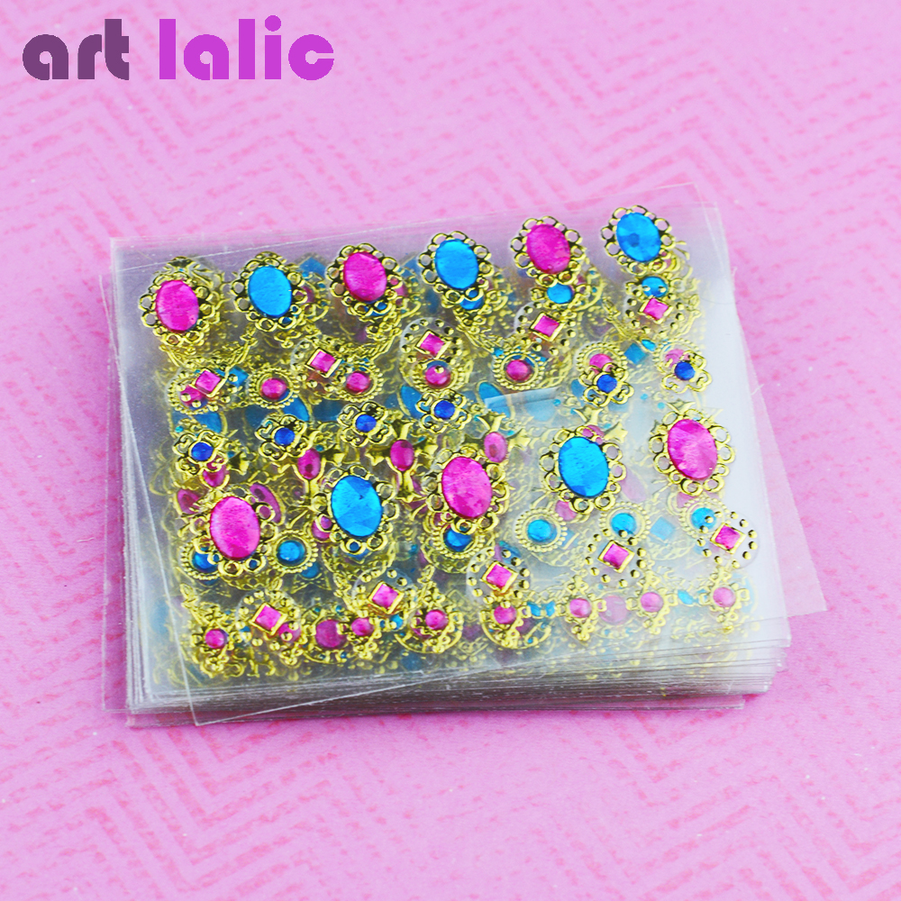 24 Pcs/Lot Beauty 3D Bronzing Cross Designs Nail Art Stickers Manicure Stamping Decals DIY Decorations Tools For Nails 24pcs lot 3d nail stickers beauty summer styles design nail art charms manicure bronzing vintage decals decorations tools jh151