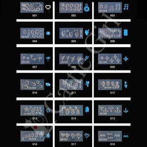 Image 5 - 134 أنماط ثلاثية الأبعاد قالب الاكريليك لمسمار الفن زينة سيليكون قوالب مسمار الفن قوالب نمط قالب رسومات أظافر صالون لتقوم بها بنفسك تصميم