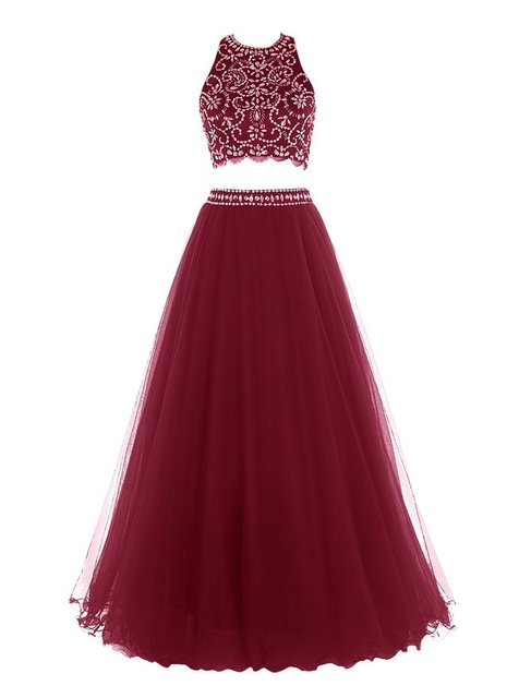 8cc9ab8644 Off the Shoulder Tulle Heavy Beaded Bodice Burgundy 2 Two Piece Prom Dress  Gown 2017 Formal Dress for Graduation Plus Size