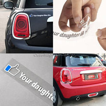 YOUR DAUGHTER LIKE THIS Waterproof Motorcycle Sticker Car Styling 3D Carbon Car-Covers Decals Car Accessories Stickers on Cars