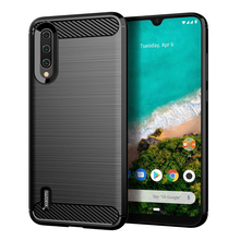 For Xiaomi Mi A3 Case Shockproof Brushed Carbon Fiber Soft B
