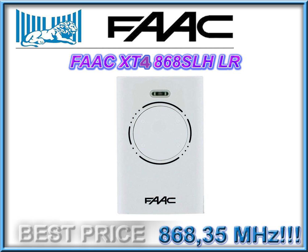 For  Transmitter  XT4 868 SLH FAAC Garage Door Remote ControlFor  Transmitter  XT4 868 SLH FAAC Garage Door Remote Control