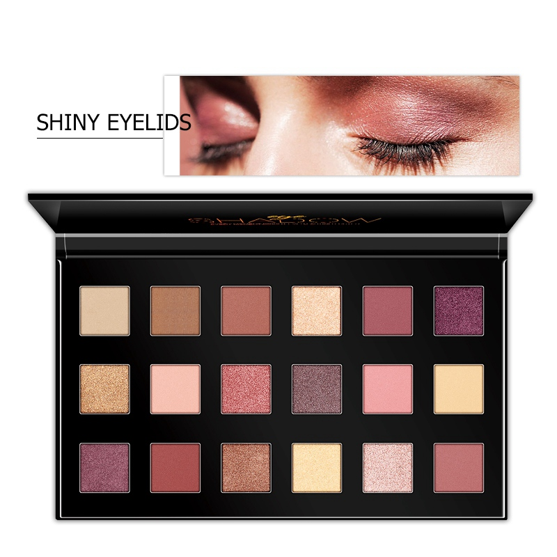 <font><b>18</b></font> Color Shimmer Matte Eyeshadow Waterproof Cosmetic Makeup Palette Pigment Eye Shadow Powder image