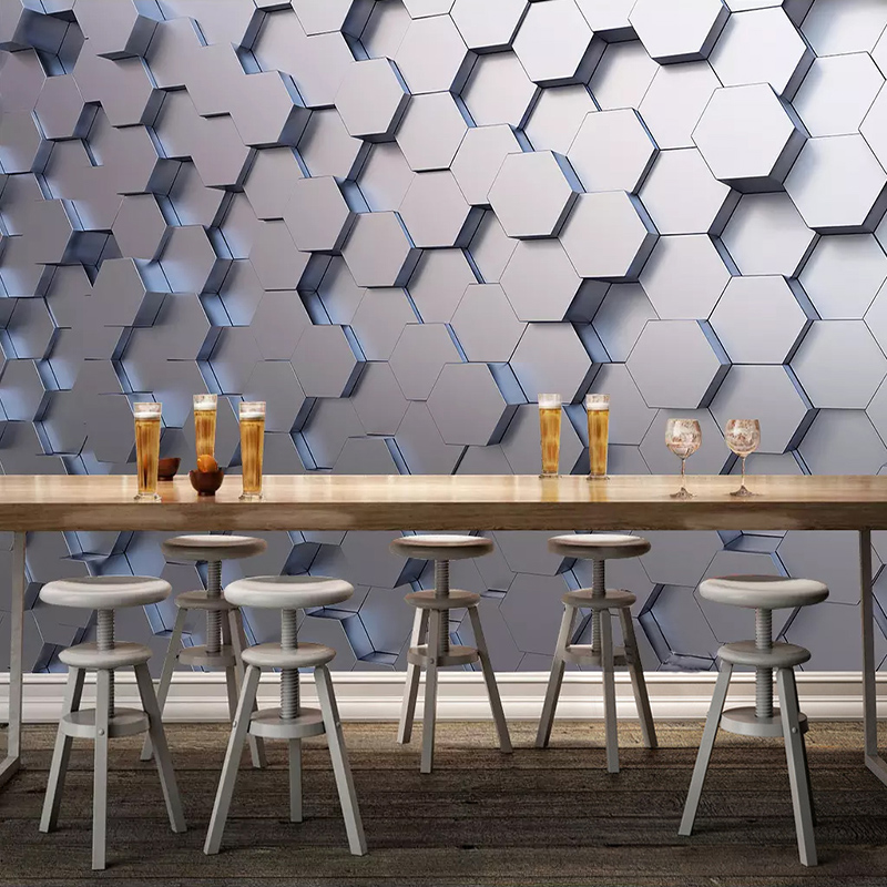 Custom Photo Wallpaper Modern 3D Stereoscopic Geometric Pattern Wall Painting Living Room Sofa TV Background Mural Home Decor
